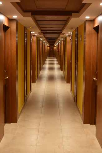 Hallway with doors