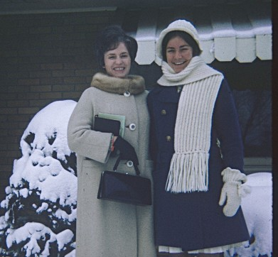 "January 1972 with ""Aunt"" Harriet at 137 Parker Ave"